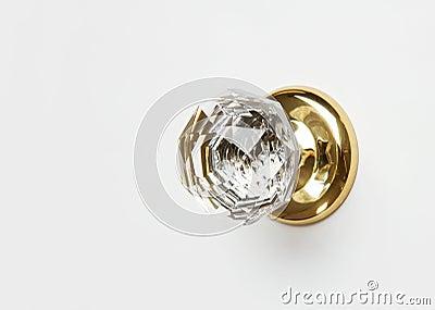Elegant crystal knob