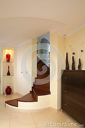 Elegant curved stairway