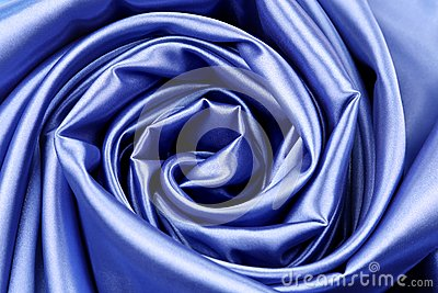 Elegant dark blue silk