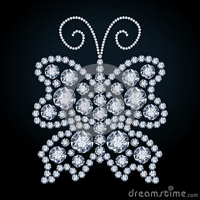 Elegant Diamond butterfly