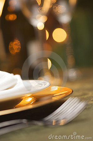 Free Elegant Dinner Setting Stock Photos - 7447263