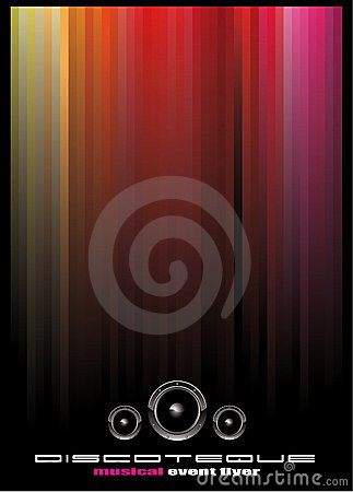 Elegant Disco Music Event Background
