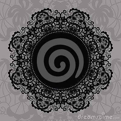 Elegant doily on lace gentle background