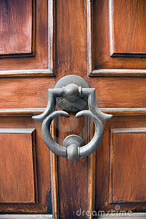 Elegant door and door knocker