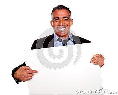 Elegant executive man smiling