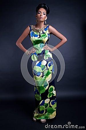 Elegant fashion model