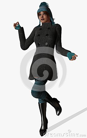 Elegant fashionable girl