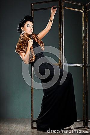 Elegant fashionable woman