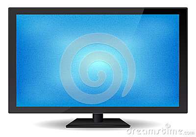 Elegant Flat Glossy Blue Screen TV