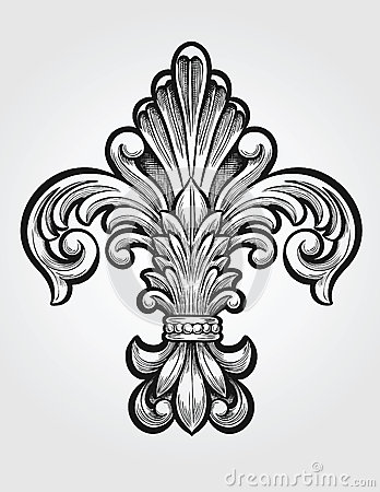 Fleur De Lis Logo On Glass