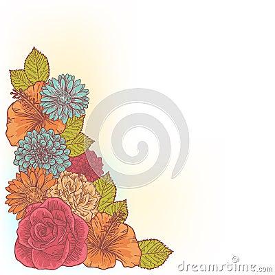 Elegant floral corner card