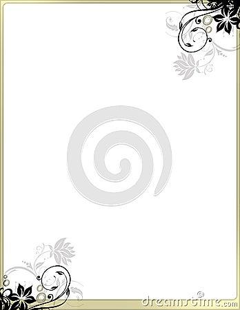 Free Elegant Floral Page Border Template No Header Stock Image - 13095511