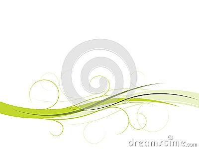 Elegant floral wave