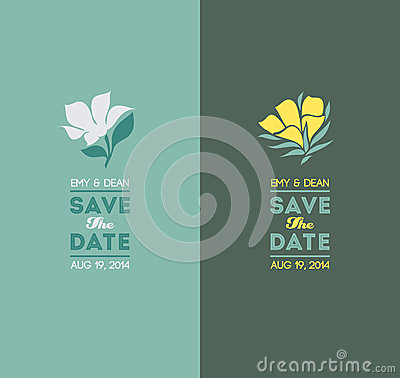 Elegant flowers. Wedding graphic set