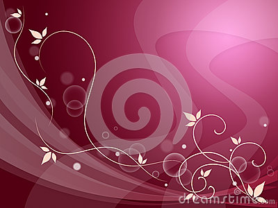 Elegant Flowery Background Means Delicate Decoration Or Spring S
