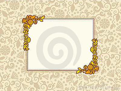 Elegant framed background
