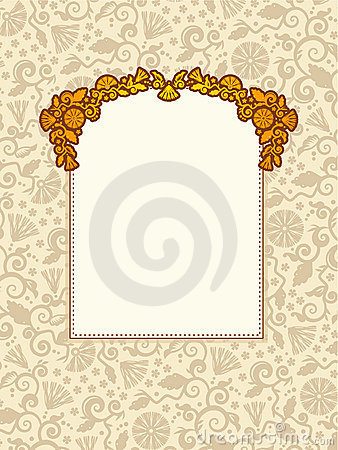 Elegant framed background with space for text