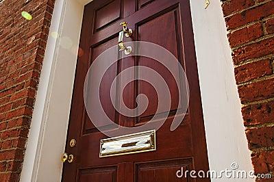 Elegant Front Door in a Brick Building
