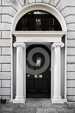 Free Elegant Georgian Doors Royalty Free Stock Image - 27440286