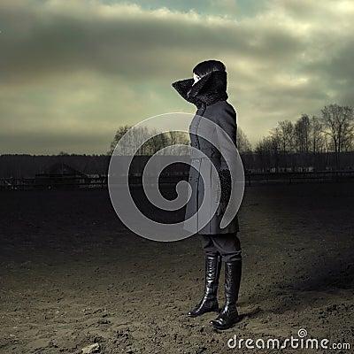Elegant girl in coat