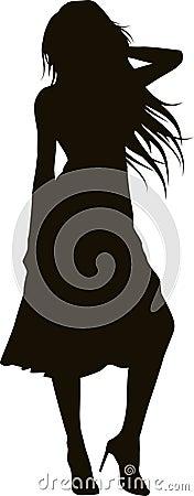 Elegant girl silhouette