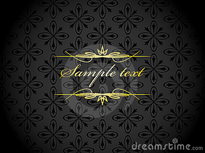 Elegant gold black background