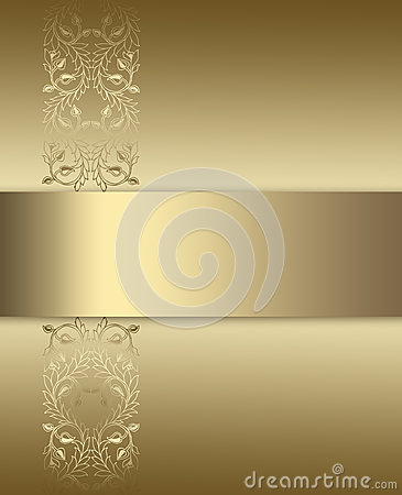 Elegant Gold And Brown Background Royalty Free Stock