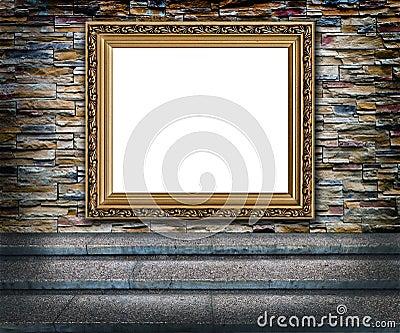 Elegant golden frame interior