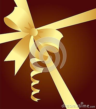 Elegant golden ribbon