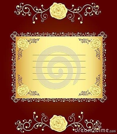 Elegant golden rose cover