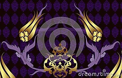 Elegant golden traditional ottoman design