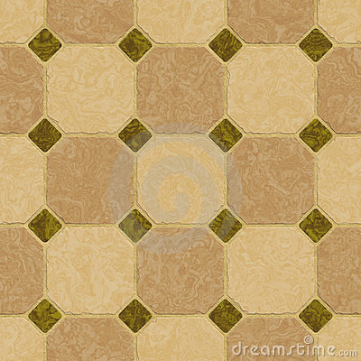 Elegant green and brown marble floor