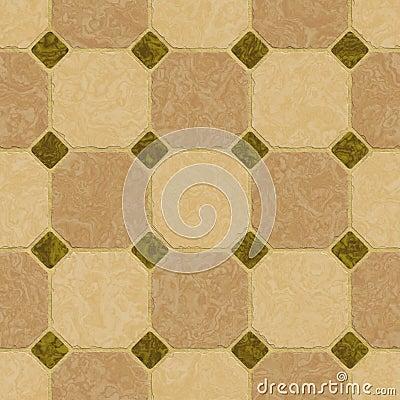 Elegant green and brown marble floor