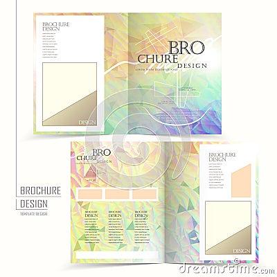 elegant half fold brochure template design. Black Bedroom Furniture Sets. Home Design Ideas