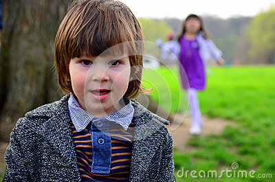 Jacket Long hair toddler boy girl