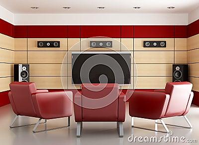 Elegant home cinema room