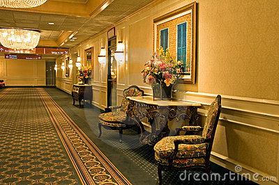 Elegant hotel hallway