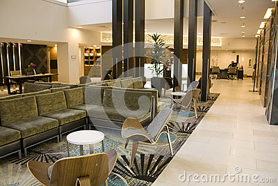 Elegant hotel lobby Editorial Photography