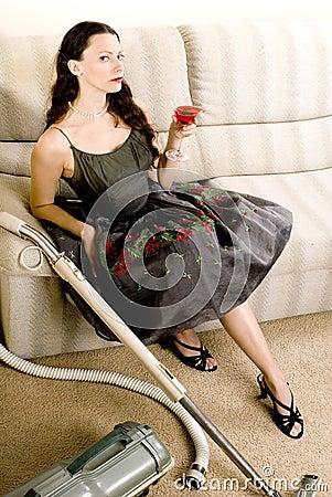 Elegant housewife