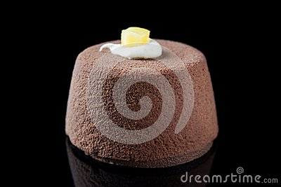 Elegant individual chocolate mousse