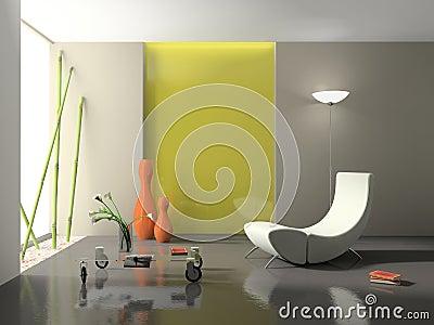 Elegant interior 3D rendering