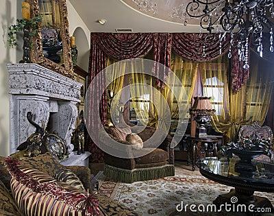 Elegant interior decorated home