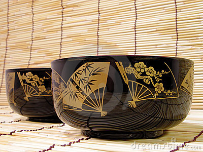Elegant Japanese bowls