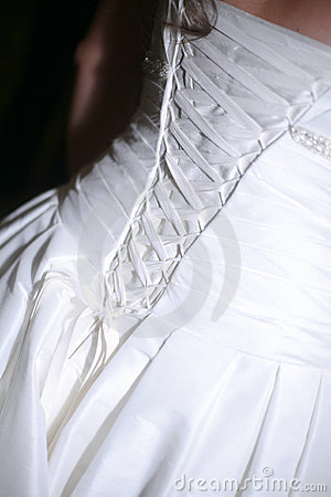 Elegant Lace-up Bridal Gown