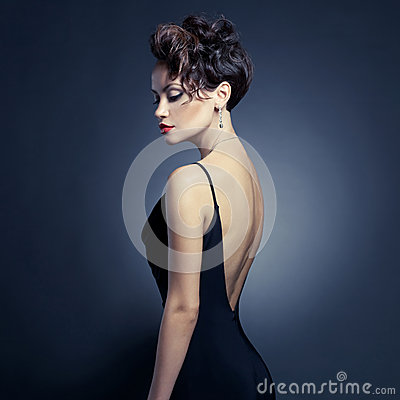 Free Elegant Lady In Evening Dress Royalty Free Stock Photography - 28862067
