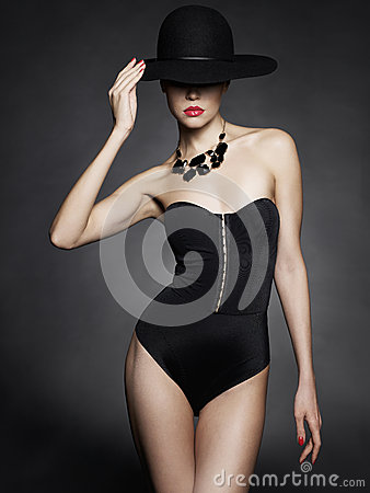 Free Elegant Lady In Hat Royalty Free Stock Image - 49962006