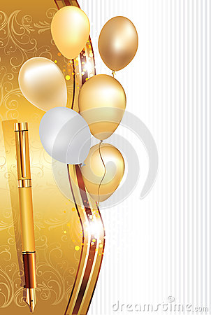 Elegant Light Brown Celebration Background With Balloons ...