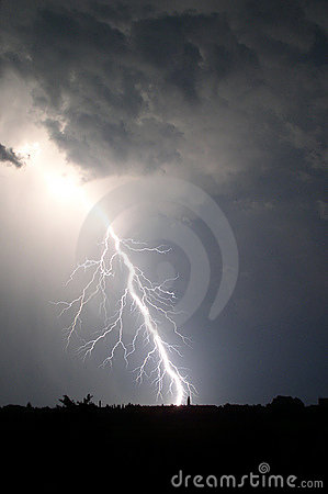 Elegant lightning bolt
