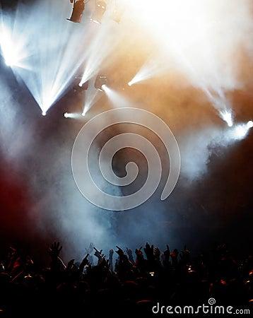 Free Elegant Lights At Concert Stock Image - 5756541