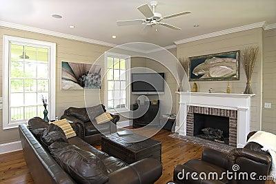 Elegant livingroom with flatscreen